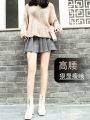 skirt Winter of 2019 S,XL,2XL,3XL,L,M Short skirt Versatile High waist Pleated skirt lattice Type A 18-24 years old XMM-1728# Wool Other / other fold 351g / m ^ 2 (including) - 400g / m ^ 2 (including)