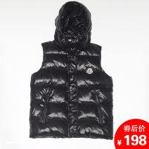 Vest Winter 2020 Black, white 160,165,170,175,180,185 Detachable cap Versatile Solid color zipper H6325 monabcer pocket More than 90% white duck down
