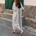 Dress Summer 2020 Average size longuette singleton  Short sleeve commute other Loose waist Solid color Socket other puff sleeve Others 18-24 years old Type H Korean version 31% (inclusive) - 50% (inclusive) other other