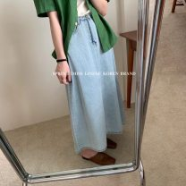 skirt Summer 2021 S,M,L Picture color longuette commute High waist other Solid color Type A 18-24 years old 31% (inclusive) - 50% (inclusive) other other Korean version