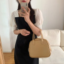 Dress Summer 2021 black Average size Mid length dress singleton  Short sleeve commute square neck High waist other Socket other puff sleeve Others 18-24 years old Type H Korean version 31% (inclusive) - 50% (inclusive) other other