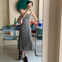 Dress Summer 2021 longuette singleton  Sleeveless commute Broken flower High waist other 18-24 years old other 31% (inclusive) - 50% (inclusive) other camisole Korean version other One size fits all