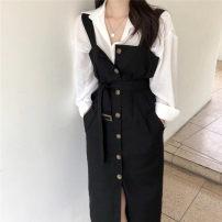 Dress Summer of 2019 Average size singleton  commute 18-24 years old Korean version