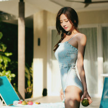 one piece  Swimsuit M,L,XL Picture color Steel strap breast pad nylon 2018 ed female Sleeveless Casual swimsuit