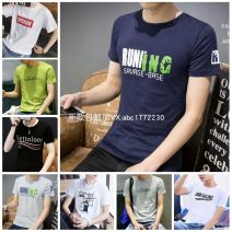 T-shirt Summer 2020 Short sleeve Crew neck Self cultivation Regular routine commute cotton 51% (inclusive) - 70% (inclusive) 30-39 years old Korean version originality printing