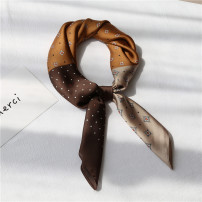 Scarf / silk scarf / Shawl polyester Buy 3 get 1 FREE 4, * 70cm three color gem red and blue, * 70cm three color gem turmeric coffee, * 70cm three color gem black gray Spring and autumn, summer, winter female Scarves / scarves multi-function Korean version Small square towel Youth, youth, middle age