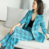 Fashion suit Spring 2020 S M L XL XXL Blue lake (in stock) Xinyuquan 71% (inclusive) - 80% (inclusive) polyester fiber Polyethylene terephthalate (polyester) 72% others 28% Pure e-commerce (online only)
