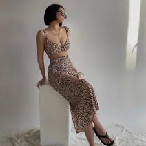 Fashion suit Summer 2021 S,M,L Leopard Print 31% (inclusive) - 50% (inclusive)