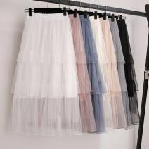 skirt Summer 2020 M (below 100kg), l (100-120kg), XL (120-140kg) Pink, blue, gray, black, white, bean powder, 817 gray, 817 black, 816 pink, 816 black, 811 gray longuette High waist Cake skirt Other / other Three dimensional decoration, splicing
