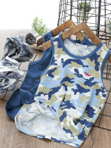 Vest sling Camouflage vest sky blue, camouflage vest Navy green, camouflage vest blue gray, camouflage vest white gray Sleeveless summer Other / other male No model Crew neck nothing L3042 2, 3, 4, 5, 6, 7, 8, 9, 10, 11, 12, 13, 14 years old