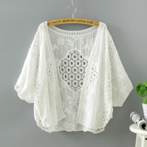 Lace / Chiffon Summer 2020 White, off white Average size elbow sleeve Versatile Cardigan singleton  easy have cash less than that is registered in the accounts other Bat sleeve 18-24 years old Hollowed out, Gouhua hollowed out, splicing, lace 31% (inclusive) - 50% (inclusive)