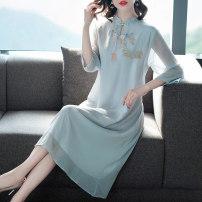 Dress Summer 2020 Light blue, white, yellow M,L,XL,2XL,3XL