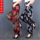 Casual pants Summer 2021 trousers Knickerbockers High waist commute Thin money 40-49 years old 71% (inclusive) - 80% (inclusive) Ishimanyan cotton ethnic style pocket cotton
