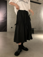 skirt Spring 2021 Average size Black, white Mid length dress commute High waist Umbrella skirt Solid color Type A 18-24 years old K8073 bow skirt (4.12) 31% (inclusive) - 50% (inclusive) Sinbounboun cotton bow Korean version