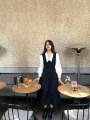 Casual suit Autumn 2020 Black dress, white shirt Average size 18-25 years old 825 dress shirt suit (10.5) Sinbounboun cotton