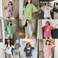 T-shirt Starting with 10 pieces (multi-color and multi variety batch), 20 pieces (multi-color and multi variety batch), 50 pieces (multi-color and multi variety batch), 100 pieces (multi-color and multi variety batch), 100000 pieces (multi-color and multi variety batch) Average size (80-140 kg) easy