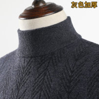 T-shirt / sweater Business gentleman 165/S 170/M 175/L 180/XL 185/XXL thickening Socket Half high collar Long sleeves winter Straight cylinder 2017 Wool 100% leisure time Business Casual youth routine Solid color Autumn 2015 washing Fine wool (16 and 14 stitches) Cashmere blend other 30% and below