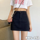 skirt Summer 2021 XXS,XS,S,M,L Black, beige Short skirt commute High waist Denim skirt Solid color Type A 18-24 years old 2¥24 71% (inclusive) - 80% (inclusive) other Other / other other zipper Korean version 61G / m ^ 2 (including) - 80g / m ^ 2 (including)