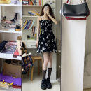 Dress Summer 2021 White with long sleeves and suspender skirt S, M Mid length dress singleton  Sleeveless commute other High waist Broken flowers Socket other routine Others 18-24 years old Type H Other / other Korean version Splicing 3¥20 71% (inclusive) - 80% (inclusive) other other