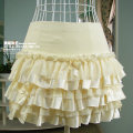 skirt Spring 2021 S Beige Miniskirt commute Pleated skirt Solid color 91% (inclusive) - 95% (inclusive) other Bowknot, stitching, lace Korean version
