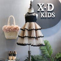 Dress As shown in the figure female Other / other 90 = 7, 100 = 9, 110 = 11, 120 = 13, 130 = 15 Other 100% summer Korean version Solid color Class B 2 years old, 3 years old, 4 years old, 5 years old, 6 years old, 7 years old, 8 years old