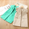 Vest female Khaki, green 100 = 7, 110 = 9, 120 = 11, 130 = 13, 135 = 15 Other / other spring and autumn routine No model Single breasted Korean version other Solid color Other 100% Class B Chinese Mainland Three, four, five, six, seven, eight