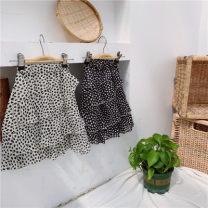 skirt 100 = 7, 110 = 9, 120 = 11, 130 = 13, 135 = 15 White, black Other / other female Other 100% summer Korean version Leopard Print Chiffon Class B