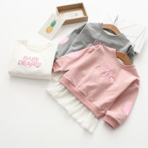 Dress White, gray, pink female Other / other 100 = 7, 110 = 9, 120 = 11, 130 = 13, 135 = 15 Other 100% spring and autumn Korean version Long sleeves other cotton Cake skirt Class B Three, four, five, six, seven, eight