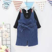 suit Other / other As shown in the figure 90 = 7, 100 = 9, 110 = 11, 120 = 13, 130 = 15 female spring and autumn Korean version Short sleeve + skirt 2 pieces Thin money No model Socket nothing stripe other children Learning reward Class B Other 100% Three, four, five, six, seven, eight