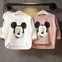 T-shirt White, pink Other / other 90 = 7, 100 = 9, 110 = 11, 120 = 13, 130 = 15 female spring and autumn Long sleeves Crew neck leisure time No model nothing Cartoon animation Sweat absorption 2 years old, 3 years old, 4 years old, 5 years old, 6 years old, 7 years old