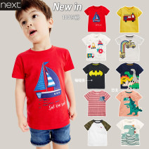 T-shirt Next 9-12 months (80), 12-18 months (85), 1.5-2 years (90), 2-3 years (95), 3-4 years (100), 4-5 years (110), 5-6 years (115), 6-7 years (120), 7-8 years (125) male summer Short sleeve Crew neck Europe and America Official pictures nothing Pure cotton (100% cotton content) printing 137-290