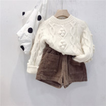 Sweater / sweater cotton neutral Other / other Korean version There are models in the real shooting routine Crew neck Ordinary wool Solid color Cotton 80% other 20% 2 years old, 3 years old, 4 years old, 5 years old, 6 years old