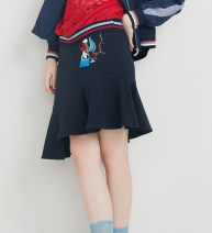 skirt Autumn of 2019 XS,S,M Dark blue