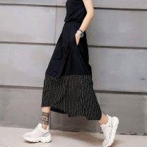 skirt Autumn 2020 Average size Black, black (summer thin) Mid length dress street Natural waist Irregular stripe Type A 25-29 years old W1579 81% (inclusive) - 90% (inclusive) other Other / other cotton Europe and America