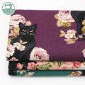 Fabric / fabric / handmade DIY fabric cotton Green dark purple off white Loose shear piece Cartoon animation printing and dyeing Other hand-made DIY fabrics Japan and South Korea 100%