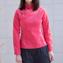 jacket Spring 2021 S,M,L,XL Peacock blue, peach red Yu Xiang cotton 96% and above