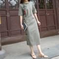 cheongsam Summer 2020 M (for net waist 1.8-2.1 feet), l (for net waist 2.2-2.4 feet) Red, green Short sleeve Single cheongsam literature Low slit daily Oblique lapel lattice Yu Xiang cotton 96% and above