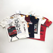 T-shirt Light blue, gray, green, red, white high-speed rail, navy blue, gray high-speed rail, white 5700, white two cars, white jujube sleeves, navy blue three cars Other / other 100cm,110cm,120cm,130cm male summer Crew neck nothing cotton Cotton 100% Three, four, five, six, seven, eight