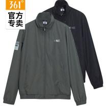 Sports jacket / jacket 361° male XS /160,S /165,M /170,L /175,XL /180,2XL /185,3XL /190,4XL /195,5XL 552O14601C Basic black, willow, basic black C-1, willow C-2 Spring 2020 stand collar zipper letter Sports & Leisure ventilation Single windbreaker