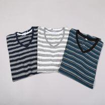 T-shirt 18023 routine routine Short sleeve daily standard Fashion City EAGLE SPOOR Crew neck summer M,L,XL Grey white, grey Navy, green