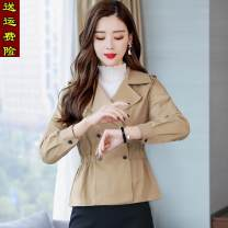 short coat Spring 2020 XXL,S,M,L,XL khaki Long sleeves have cash less than that is registered in the accounts routine singleton  Self cultivation Versatile routine tailored collar double-breasted Solid color 25-29 years old Other / other 96% and above Pockets, buttons, stitching YLS20A2506 other