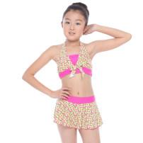 Children's swimsuit / pants Thousands of M,L,XL,XXL,XXXL Pink, purple, rose red waist / yellow background Children's Bikini female nylon GB81B