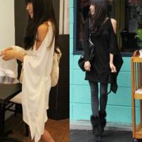T-shirt White, black S,M,L,XL,2XL,3XL,4XL,5XL Winter 2013 Long sleeves Crew neck easy Medium length other cotton 86% (inclusive) -95% (inclusive) Asymmetric, hollow out