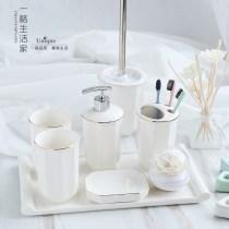 European style bathroom Five piece set ceramics Shower Room Wash suit Bathroom supplies Four Set piece Gargle cup Wash Cup