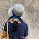 Hat other Temperament blue ribbon elegant dark green ribbon M(56-58cm)