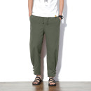 Casual pants Others Youth fashion M,L,XL,2XL,3XL,4XL,5XL thin trousers Travel? Extra wide No bullet summer Large size Chinese style 2017 middle-waisted Little feet Cotton 100% Sports pants Solid color cotton