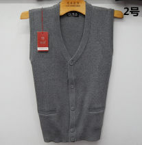 Vest / vest Business gentleman Other Other leisure easy Woolen vest routine Four seasons middle age 2020 170/92A,175/96A,180/100A 1, 2, 3, 4, 5