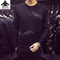 T-shirt Youth fashion black routine M,L,XL,2XL,3XL,4XL,5XL Yinglunjiafeng Long sleeves Crew neck Self cultivation daily spring youth routine tide 2021 Animal design printing cotton 3D effect No iron treatment