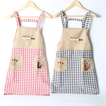 apron Red grid (slightly longer than the other two colors), blue grid, gray grid Sleeveless apron antifouling Korean version other Household cleaning Average size BY016 Capriccio the post-90s generation yes like a breath of fresh air