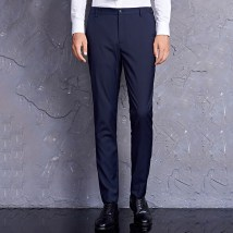 Western-style trousers Chai Shang Business gentleman Navy Blue Twenty-eight seven hundred and eleven million two hundred and two thousand one hundred and two Polyester 61% viscose (viscose) 36% polyurethane elastic (spandex) 3% Fall 2017 Pure e-commerce (online only)